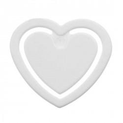Pince à fiches mini, en forme de coeur