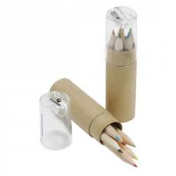 Set de 6 crayons avec taille-crayon