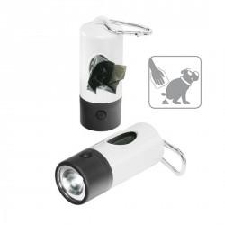 Lampe de poche pour sortie chien, 1 LED (blanc)