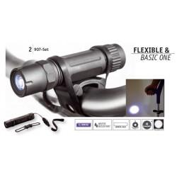 "Metmaxx®Metmaxx® POrte-Lampe + Lampe LED Megabeam ""BasicOne"" Noire"