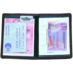 "CreativDesign®Poche permis de conduire ""Paper Label 2"" Noir"