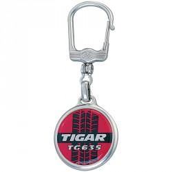Porte-clés métal rond