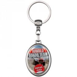 Porte-clés métal ovale