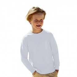 T-shirt Enfant Fruit ol the Loom Blanc 61-007-0