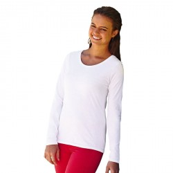 T-shirt  cintré Femme Fruit of the Loom  Blanc 61-404-0