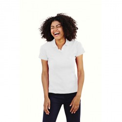 Polo Femmes Fruit of the Loom Blanc 63-212-0
