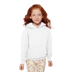 Sweat-shirt à capuche Enfants Gildan Blanc 18500B