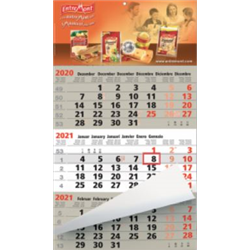 Calendrier 3 mois Business beige