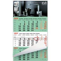 Calendrier 3 mois Business vert