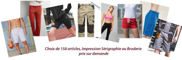 Pantalon et shorts à personnaliser