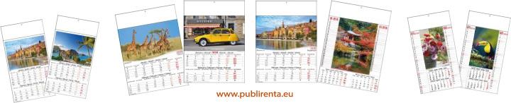 calendriers 6 pages série 630 et 622